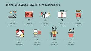 Savings Template Financial Savings Powerpoint Infographics