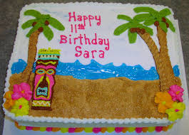 tiki party this was a tiki cake for an 11 year old girls 11 Year Old Cakes tiki party this was a tiki cake for an 11 year old girls birthday party cakes for 11 year old girls
