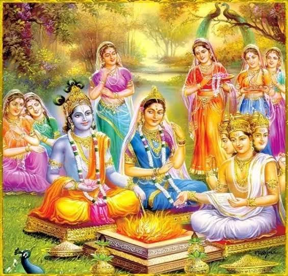 Image result for krishna married radha""