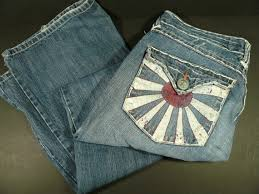 Laguna Beach Jeans Mens Corona Del Mar Rising Sun Pockets Size 33