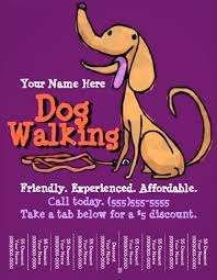 Quirky Dog Walking flyer | Character&Co. Are you looking to advertise your dog walking or dog training business? Well, then you're sure to love this simple and sweet flyer with it's clean, ...