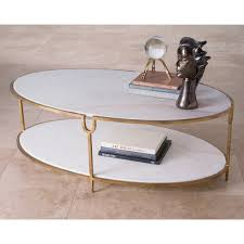 stone coffee table. Global Views Iron Stone Coffee Table Oval Brass Marble Metal Living Room