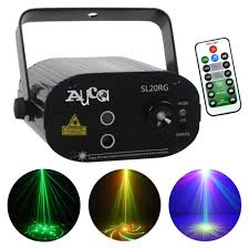 Green Laser Projector Light Us 28 89 15 Off Mini Remote 24 Patterns Rg Red Green Laser Projector 3w Blue Led Lights Dj Home Party Wedding Show Stage Lighting Effect Sl24rg In