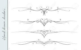 Divider Graphic Design Hand Drawn Elegant Flourish Text Divider Graphic Design Element