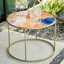 roar rabbit glass coffee table west elm
