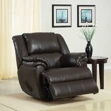 dark brown leather recliner chair. ashford padded rocker recliner, dark brown faux leather $259 recliner chair e