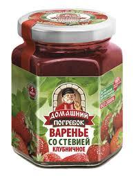 "Варенье ""Домашний погребок"" со <b>стевией</b> клубничное /200гр ..."
