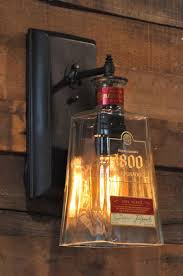 460 best recycling bottles images on whiskey bottle chandelier