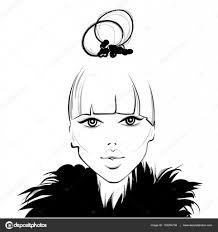 Vector Girl Face Beautiful Woman Stock Vector Yanalesiuk 133264738