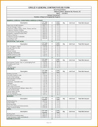 Excel Construction Bid Template – Onairproject.info