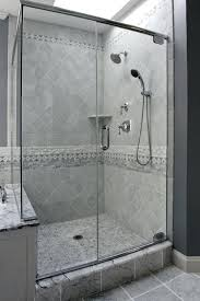 master bathroom traditional white shower tile grey grout