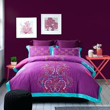 purple duvet sets double whole of 2016 100 cotton satin embroidery bedding set purple duvet cover
