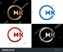 Mk Logo Design Vector Mk Logo Letter Design Vector Red Stock Vector Royalty Free