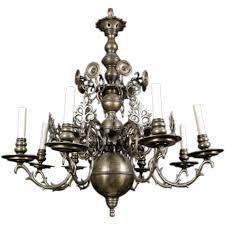 19th century dutch brass chandelier