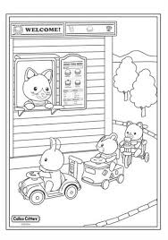Kids N Funcom 17 Coloring Pages Of Calico Critters