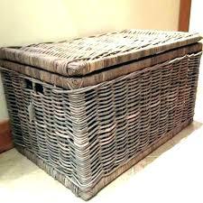 large wicker storage trunk. Brilliant Trunk Rattan Storage Trunk Wicker Chest Small Baskets  Woven And Large Wicker Storage Trunk E