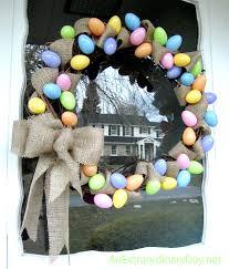pastel eggs burlap gvine easter wreath