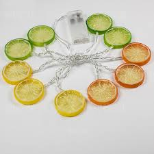 Lemon Powered Light Fruit Lemon String Lights Fairy Led Home Decor Light Home Garden Of Battery Powered 1 65m 10 Led