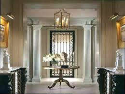 foyer round tables foyer round table foyer center pedestal table vignette contemporary foyer table and mirror foyer round tables