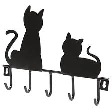 Cat Coat Rack ANIMAL Decorative Wall Hooks 71