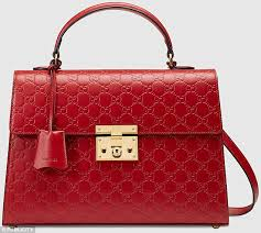 gucci bags red. the italian designer bag costs £1,260. liz says: yes, m\u0026s version gucci bags red