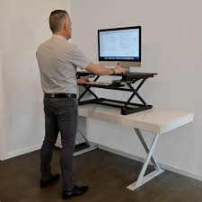work desks home office. Desk Top Black Adjustable Sit To Stand Work Desks Home Office I