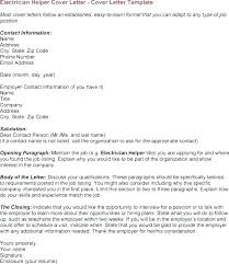 Sample Electrician Cover Letter Resume For Electrical Technician ...
