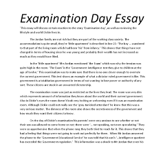 analysis of the short story examination day gcse english document image preview