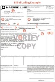 bill of loading how to complete a bill of lading and a shipping instructions