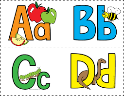 Alphabet Card Colored Alphabet Flash Cards Welcome To Little Genius