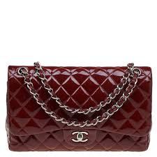 chanel burdy quilted patent leather jumbo classic double flap bag nextprev prevnext