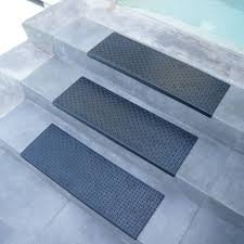 diamond plate step non slip rubber stair tread mat
