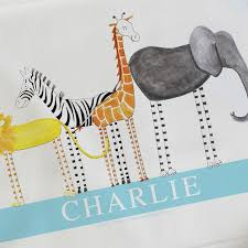 personalised baby blankets personalised baby gifts christening gifts safari friends little folk