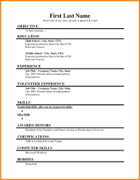 Simple Resume Template For Students Examples College Computer