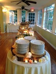 Wedding Food Tables Beautiful Rustic Wedding Reception Food Tables And Silverware