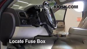 interior fuse box location 2007 2013 gmc yukon xl 1500 2007 gmc locate interior fuse box and remove cover