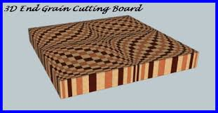 3d end grain cutting board plans. how to make a 3d end grain cutting board 3d plans