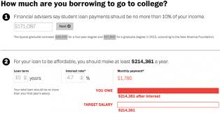 student loan caluclator student loan calculator is brutally honest about law school above
