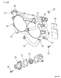 1996 chrysler town country radiator related parts diagram 00000gom