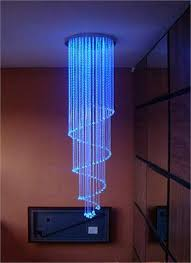 fiber optic chandelier single spiral india