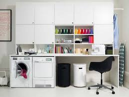 laundry room office. cool home office workspace white contemporary small simple laundry room design with work desk s