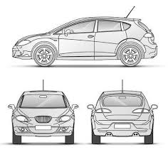 car outline front. Unique Car Car With Outline Front Back Side View Stock Photo  5194811 For Outline Front R