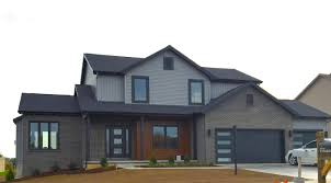 black garage doorsmasticdeepgranitegreysidingblacktrimcedarsidingblack