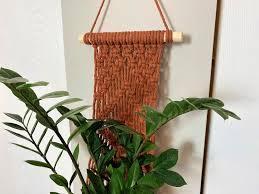 macrame plant hanger diy wall hanging