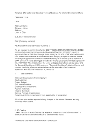 Letter Of Offer Template Business Offer Letter Sample Templates At