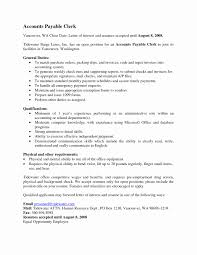 Sample Cover Letter For Accounts Payable Clerk New Accounts Payable