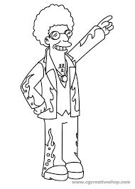 Disco Stu Personaggio Dei Simpson Disegno Da Colorare
