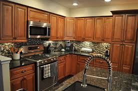 Dark Granite Kitchen Countertops Black Granite Countertops With Tile Backsplash