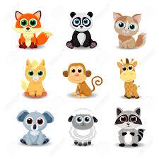Colecci N De Animales Lindos Incluidos Los Zorros Panda Gato De
