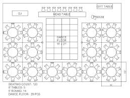 Table Seating Capacity Reception Table Seating Chart
